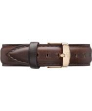 Daniel Wellington DW00200039 Damen klassische bristol 36mm Roségold braunem Leder Ersatzarmband
