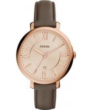 Fossil ES3707 Damen jacqueline grau Lederband Uhr