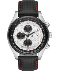 Armani Exchange AX1611 Herren schwarzes Lederarmband Chronograph Sportuhr