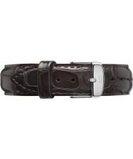Daniel Wellington DW00200097 Dapper 17mm york Silber Ersatzband