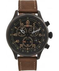 Timex T49905 Mens schwarz braun Expedition Feld Chronograph