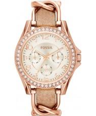 Fossil ES3466 Damen riley Sand Lederband Uhr