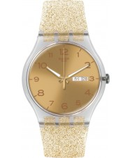Swatch SUOK704 New Gent - golden glitzern Uhr
