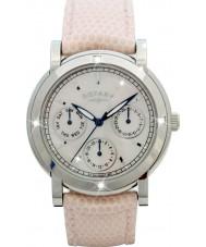 Rotary RLS00024-07-W Damen Uhren weißes Lederband Chronograph