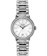 Rotary LB90081-02L Damen les originales silberne Uhr
