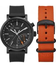 Timex TWG012600 Mens metropolitan Geschenkset mit extra Nylongurt