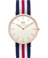 Daniel Wellington DW00100002 Mens klassische 40mm canterbury Roségold Uhr