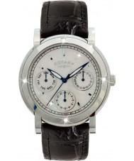 Rotary RLS00024-07-BLK Damen Uhren schwarzes Lederarmband Chronograph