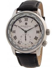 Edward East EDW1960G18 Mens schwarzes Lederband Uhr