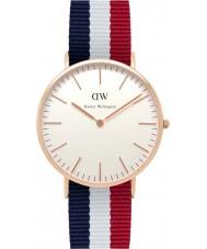 Daniel Wellington DW00100003 Mens klassische 40mm cambridge Roségold Uhr