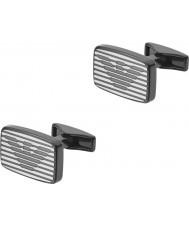 Emporio Armani EGS2179060 Mens Unterschrift Ton zwei Stahlmanschettenknöpfe