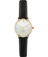 Kate Spade New York 1YRU0010 Damen U-Bahn-schwarzes Lederband Uhr
