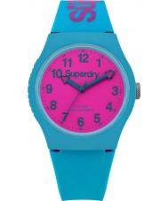Superdry SYG164AUP Städtische teal Silikonband Uhr