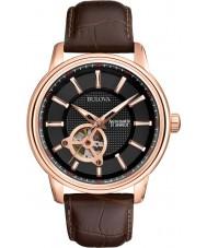 Bulova 97A109 Herren Roségold braun mechanische Uhr