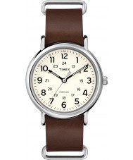 Timex T2P495 Weekender braunes Lederarmband Uhr