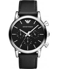Emporio Armani AR1733 Mens klassische Chronograph schwarzes Lederband Uhr