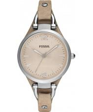 Fossil ES2830 Damen Georgia Sand Lederband Uhr
