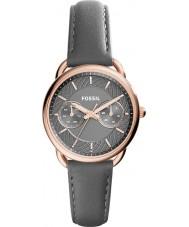 Fossil ES3913 Damen Schneider grau Lederband Uhr