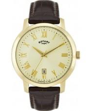 Rotary GS02462-03 Herren-Uhren Sloane braunes Lederarmband Uhr