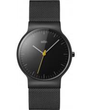 Braun BN0211BKMHG Mens klassische dünne schwarze Stahl Armbanduhr
