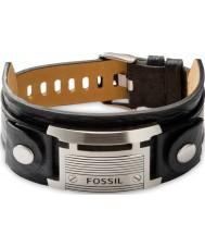 Fossil JF84816040 Mens Vintage lässig schwarzes Lederarmband
