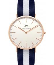 Daniel Wellington DW00100004 Mens klassische 40mm glasgow Roségold Uhr