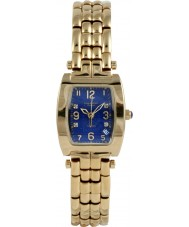 Krug-Baumen 1964DLG Tuxedo Gold 4 Diamant blaues Zifferblatt Gold Band