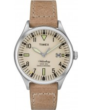 Timex TW2P84500 Mens waterbury Mitte Größe tan Lederband Uhr