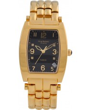 Krug-Baumen 1965DMG Tuxedo Gold 4 Diamant-schwarzes Zifferblatt Gold Band