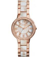 Fossil ES3716 Damen Virginia Rose und schimmern Horn Uhr