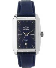 Rotary LE90012-05 Mens les originales Silber blau Automatik-Uhr