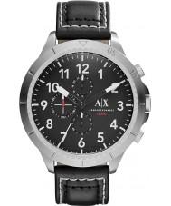 Armani Exchange AX1754 Herren schwarzes Lederarmband Chronograph Sportuhr