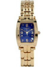 Krug-Baumen 1964DMG Tuxedo Gold 4 Diamant blaues Zifferblatt Gold Band