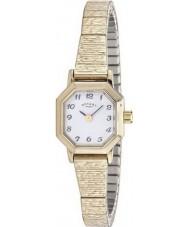 Rotary LB00764-29 Damen Uhren vergoldet erweiterbar Armbanduhr