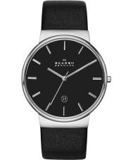 Skagen SKW6104 Mens ancher schwarzes Lederband Uhr
