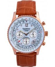 Krug-Baumen 400701DS Mens Orange Lederband Uhr