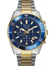 Bulova 98B230 Mens Marine star blue Stahl Chronograph