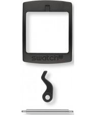 Swatch S639000222 New Gent schwarz Plastikschnalle-Set