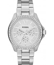 Fossil AM4481 Damen Cecile Silber Stahl Chronograph