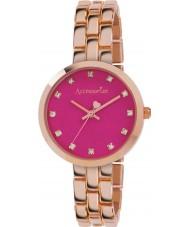Accessorize AZ4001 Damen Farbe Pop Rotgold Armband-Uhr