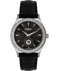 Rotary LS02908-04 Damen Stein gemeißelt schwarze Uhr