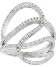 FROST by NOA 145006-54 Damen rhodiniert Ring mit Zirkonia - Größe n
