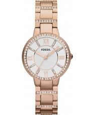 Fossil ES3284 Damen Virginia Rotgold Stahl-Uhr