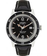 Rotary GS02694-04 Herren-Uhren Ozean Rächers schwarzes Lederband Uhr
