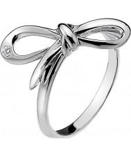 Hot Diamonds DR120-N Damen blühen Silberton Ring - Größe n