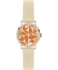 Orla Kiely OK2080 Damen patricia Orangencreme Lederband Uhr