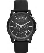 Armani Exchange AX1326 Sport schwarz Silikon Chronograph