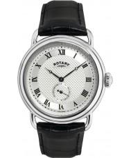 Rotary GS02424-21 Herren-Uhren sherlock holmes silber schwarz Uhr