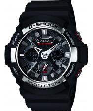 Casio GA-200-1AER Mens g-shock Weltzeit schwarz Chronograph