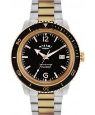 Rotary GB02695-04 Herren Uhren Ozean Rächers stieg Stahl-Uhr